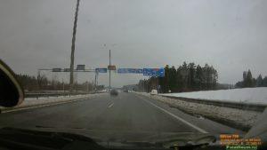 Москва-Минск на автомобиле. Съезд на МКАД-2