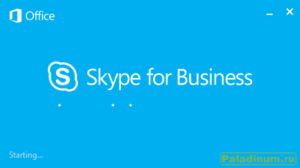 Skype For Business.