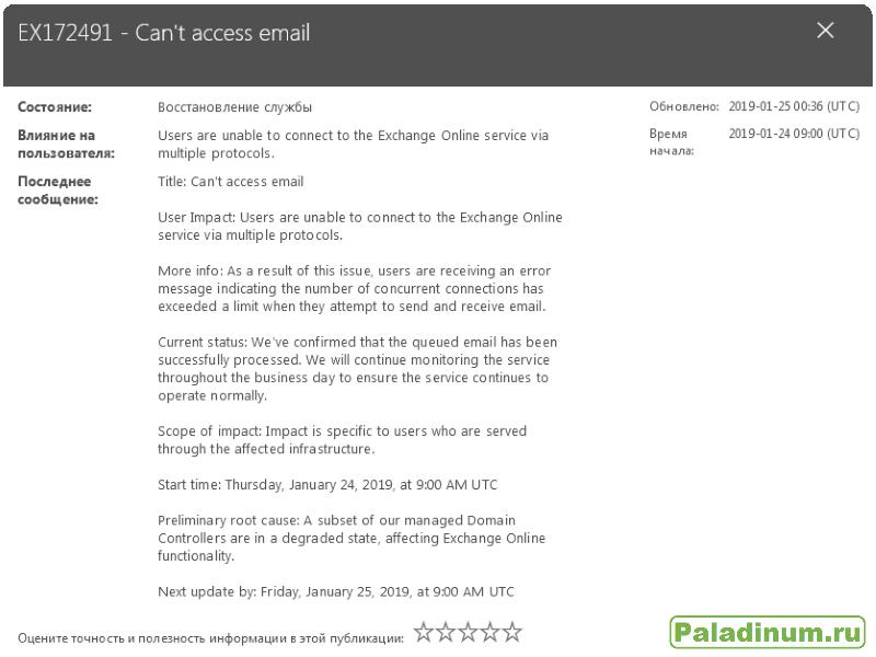 Microsoft; Office 365; Exchange; Outlook; Problem; проблема; не работает почта; подводный дата-центр; дата-центр на дне морском; интересная новость; интересное в сети; юмор сисадминов; шутка;
